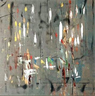 Phase Ascending  2012 50x50 Super Huge Original Painting - Antonio Carreno