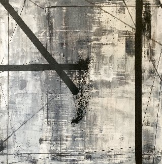 Sights 2015 50x50 Huge Original Painting - Antonio Carreno