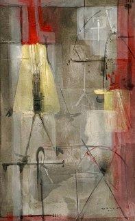 Paisaje Nocturno 2002 62x42 Super Huge Original Painting - Antonio Carreno