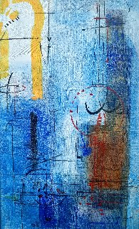Crossing Moon 2011 61x41 Super Huge Original Painting - Antonio Carreno