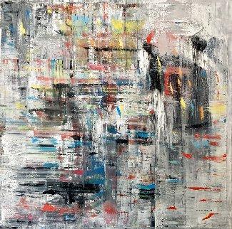 Freeze Motion 2021 60x60 Huge  Original Painting - Antonio Carreno