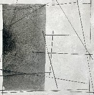 Black on White Painting 2021 48x48  Huge  Original Painting by Antonio Carreno - 0