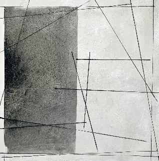 Black on White Painting 2021 48x48  Huge  Original Painting - Antonio Carreno