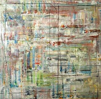 Frequency # 5 2021 72x72 - Huge Original Painting - Antonio Carreno