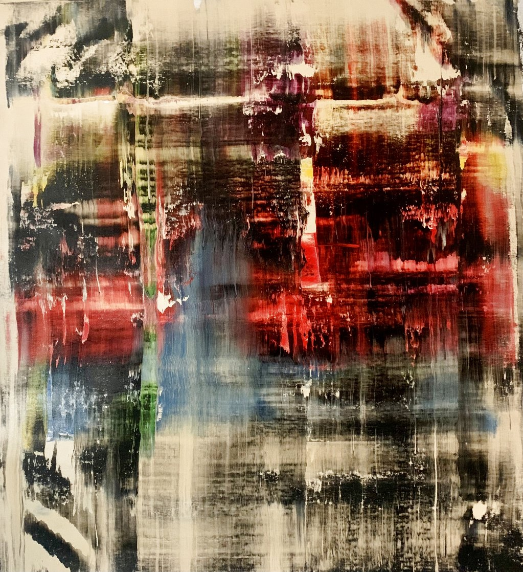 Frequency #2 2017 51x47 Huge  Original Painting by Antonio Carreno