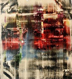 Frequency #2 2017 51x47 Huge  Original Painting - Antonio Carreno