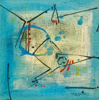 Side Real #1 2008 31x31 Original Painting - Antonio Carreno