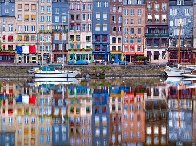 Honfleur Harbor Panorama by William Carr - 0
