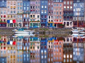 Honfleur Harbor Panorama by William Carr