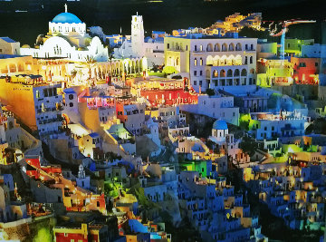 Firatown Santorini Panorama by William Carr