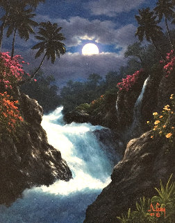 Wainnini Falls 1997 24x30 Original Painting by Anthony Casay