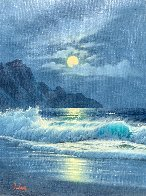Moonlight 1982 32x22 Original Painting by Anthony Casay - 0