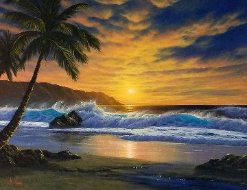 Untitled (Maui Beach) 1988 33x43 Original Painting by Anthony Casay