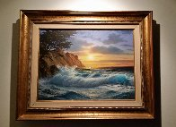 Cypress Sunset 25x32 Original Painting by Anthony Casay - 1