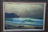 California Coastline  1970 24x36 Original Painting by Anthony Casay - 1