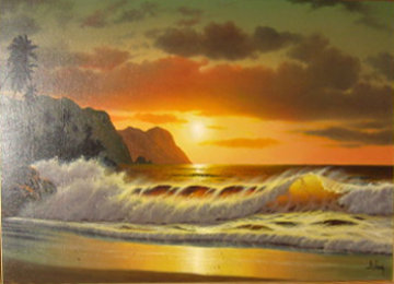 Hidden Paradise 24x36 Original Painting - Anthony Casay