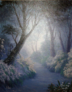 Blooming Dawn 1989 30x24 Original Painting - Anthony Casay