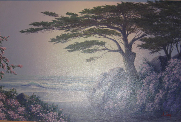 Cypress Retreat 1998 (Lone Cypress) 1988 California 24x36 Original Painting by Anthony Casay