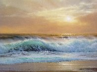Hawaiian Sunset 1976 36x60 Super Huge Original Painting by Anthony Casay - 2