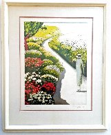L'allee Fleurie 1979 HS Limited Edition Print by Jeanne Pierre Cassigneul - 1