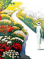 L'allee Fleurie 1979 HS Limited Edition Print by Jeanne Pierre Cassigneul - 0