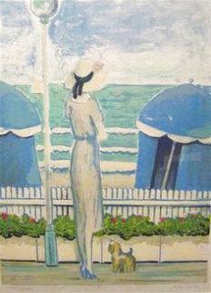 Femme Au Chien a Deauville Limited Edition Print - Jeanne Pierre Cassigneul