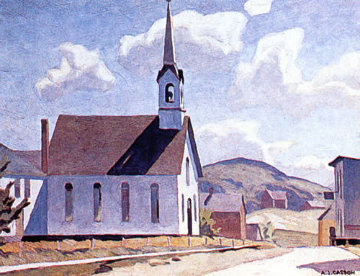 Church of St. Laurence O'Toole Limited Edition Print by A.J. Casson