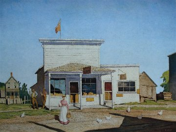 Village Store AP 1980 Limited Edition Print by A.J. Casson