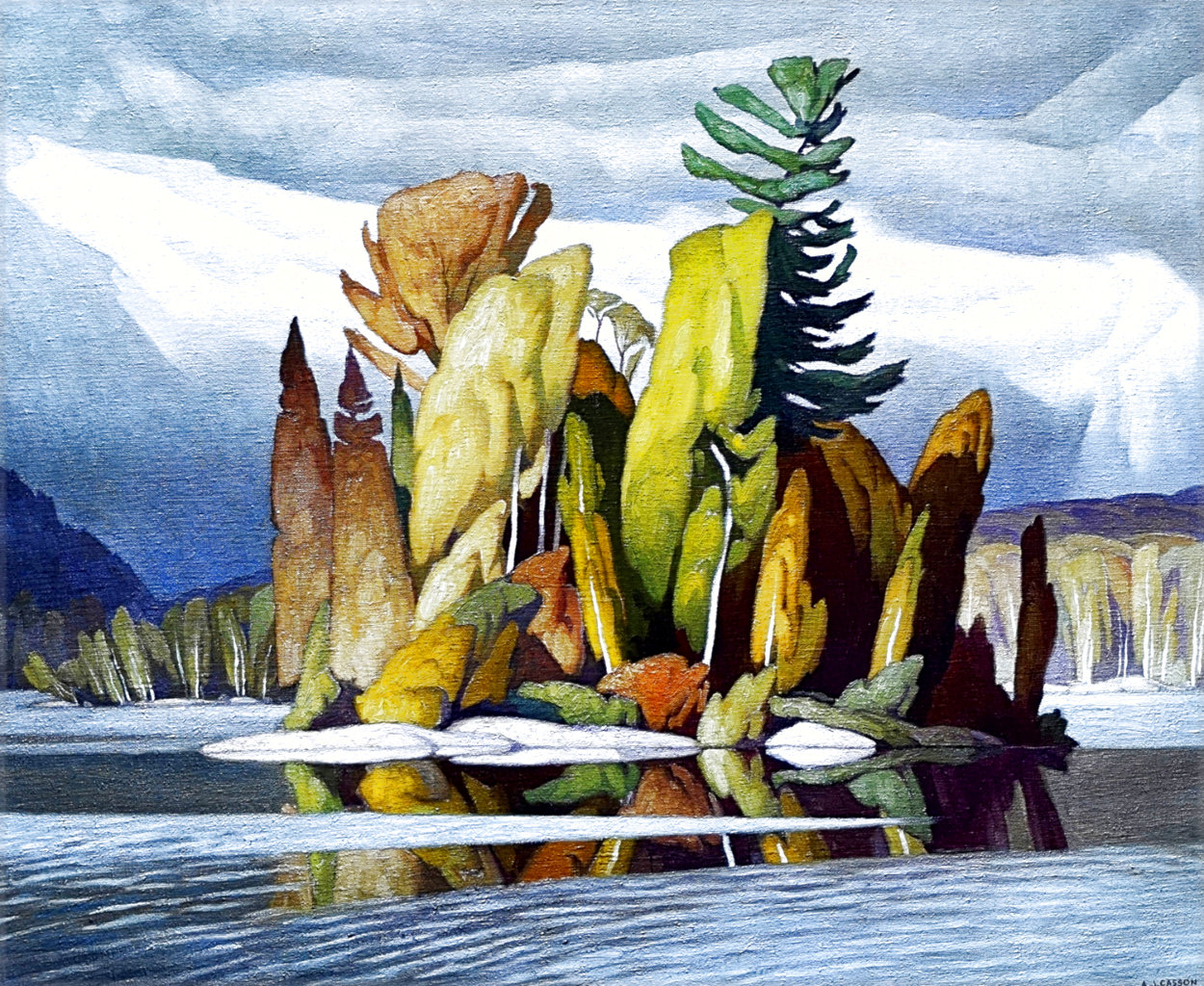 Little Island Limited Edition Print by A.J. Casson