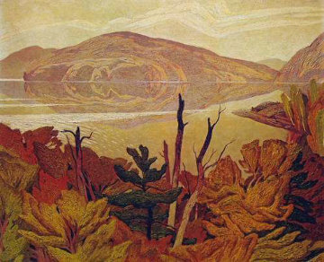 Grey October Morning Limited Edition Print - A.J. Casson