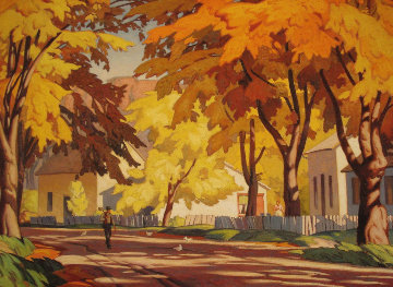 A Street in Glen Williams 1980 Limited Edition Print by A.J. Casson