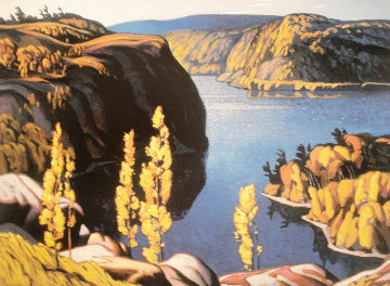 October Morning 1980 Limited Edition Print by A.J. Casson