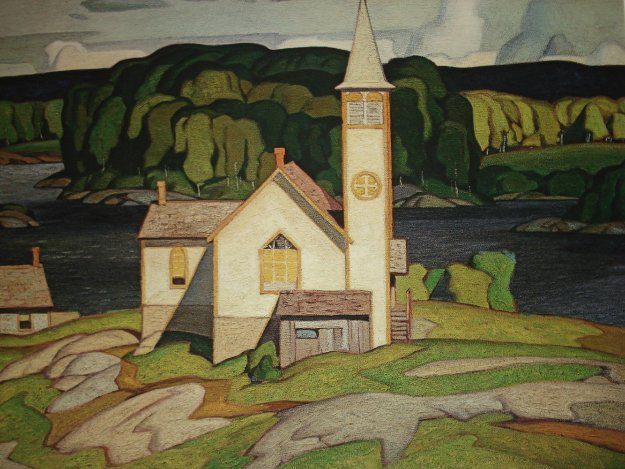 Anglican Church, Magnetawan 1980  Limited Edition Print by A.J. Casson