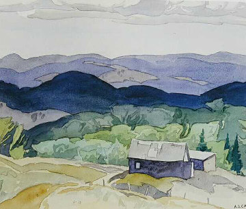 Rural Setting art Folio of 4,  1980 Limited Edition Print - A.J. Casson