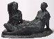 Mujeres Aseandose (Women Grooming) Bronze Sculpture 2005 Sculpture by Felipe Castaneda - 1