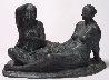 Mujeres Aseandose (Women Grooming) Bronze Sculpture 2005 16 in Sculpture by Felipe Castaneda - 1
