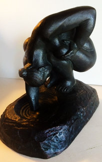 Bathing Woman Bronze Sculpture 1998 11 in Sculpture - Felipe Castaneda