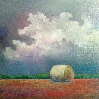 Tierras De Castilla 2014 20x20 Original Painting - Tomas Castano