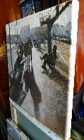 Strolling Along the Bay of Santander 2019 14x14 Original Painting by Tomas Castano - 5