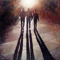 Caminando Al Atardecer 2016 15x15 Original Painting by Tomas Castano - 0