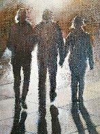 Caminando Al Atardecer 2016 15x15 Original Painting by Tomas Castano - 1
