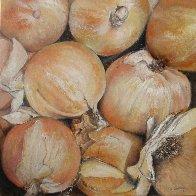 Onions 2011 11x11 Original Painting by Tomas Castano - 1