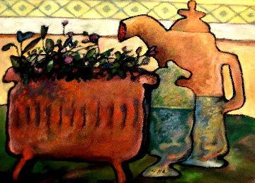 Fleurs Tardives 16x21 Original Painting - Gerard Castonguay