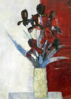 Untitled Bouquet 33x27 Original Painting - Bernard Cathelin