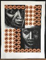 Negro Es Bello II - Black is Beautiful 1969 Limited Edition Print by Elizabeth Catlett - 2