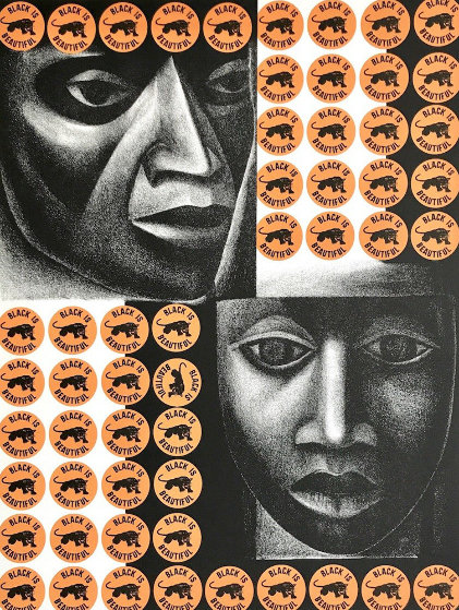 Negro Es Bello II - Black is Beautiful 1969 Limited Edition Print by Elizabeth Catlett