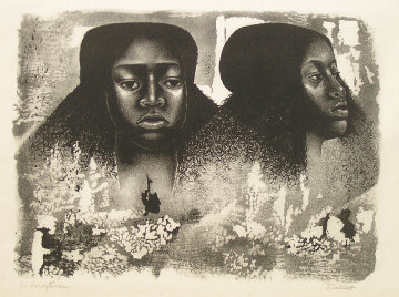 Lovie Twice AP 1976 Limited Edition Print - Elizabeth Catlett