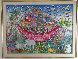 Untitled (Noah's Ark) 1983 31x43 Original Painting by Miguel Garcia  Ceballos - 1