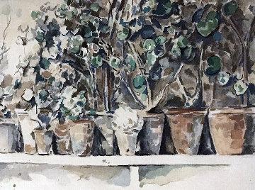 Edition Des Quatre Chemins (Paris) Portfolio Six Aquarelles Reproduites En Facsimile 1960 Limited Edition Print - Paul Cezanne