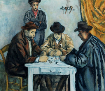 After: by Jacques Villion, Les Joueurs Des Cartes (After: Cezannes The Card Players) 1929 Limited Edition Print - Paul Cezanne